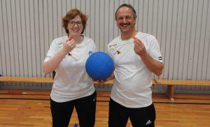 Theresa Stahl und Alexander Knecht, die Goaldballschiesrichter des SV-Hoffeld